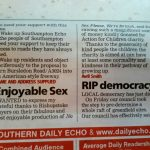 Letter to Daily Echo