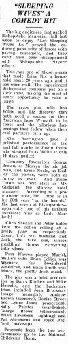 1985 Eastleigh Weekly News review of Let Sleeping Wives Lie