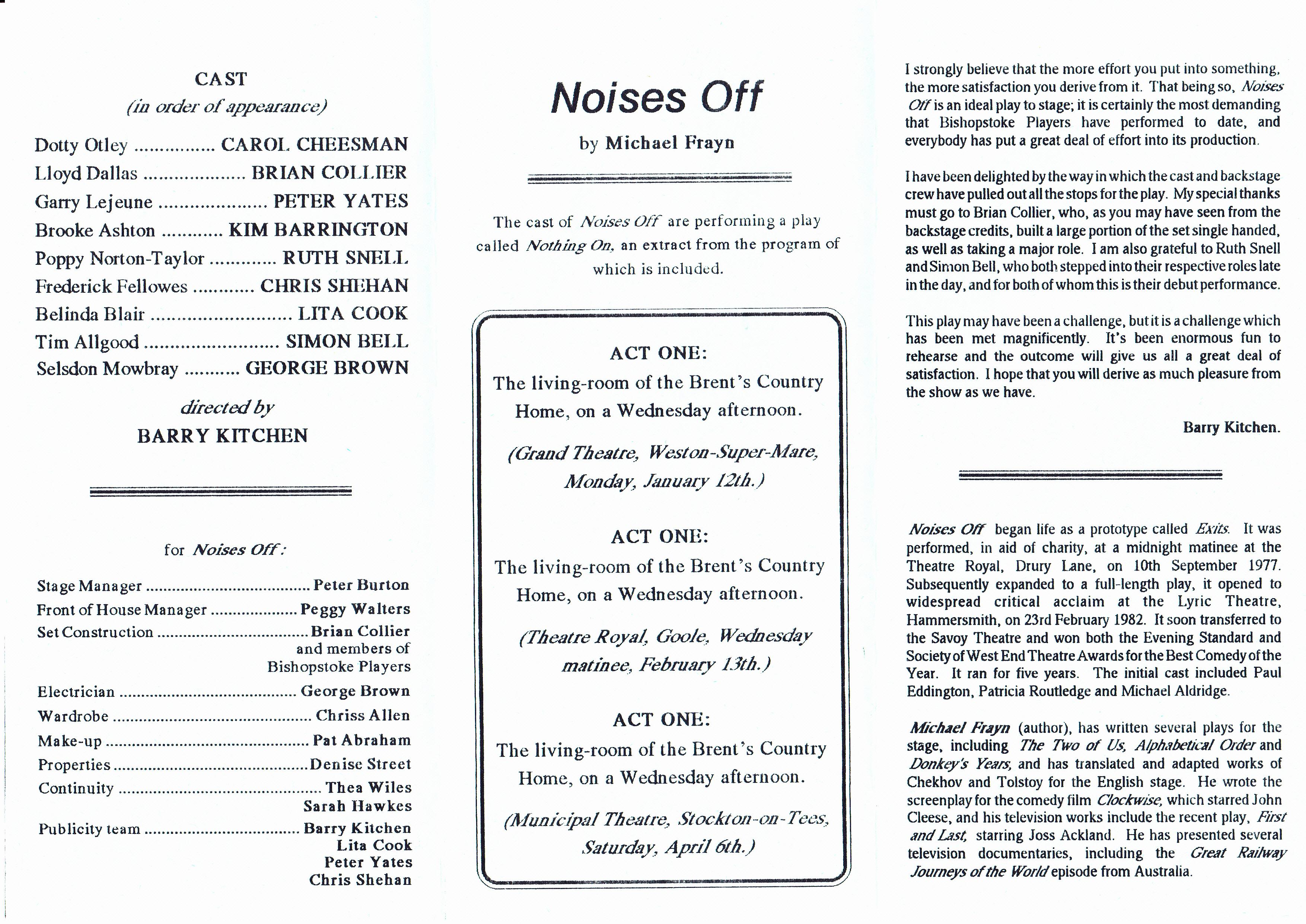 1990-1994 – Bishopstoke Players