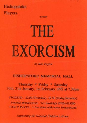 1994 poster The Exorcism