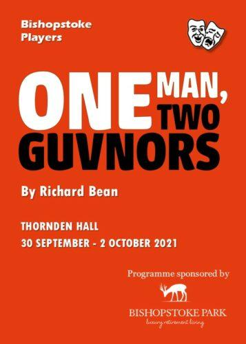 2021 One Man Two Guvnors programme cover